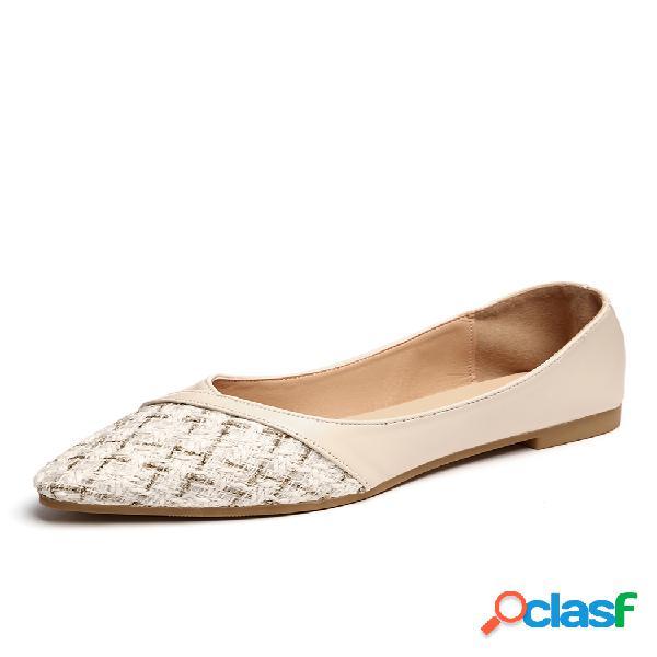 Mujeres punta estrecha a la mitad cinturón planos chic shoes