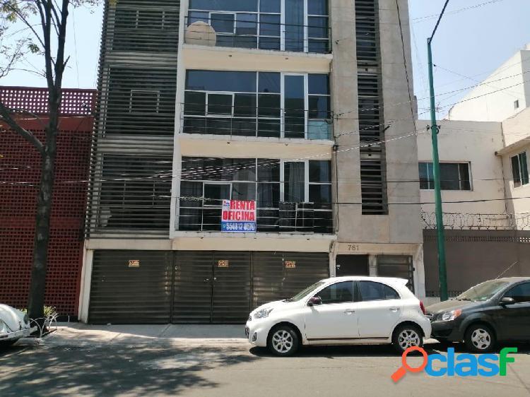 Oficina comercial en renta en viaducto piedad, iztacalco, oficina en renta en planta baja de 90 m2