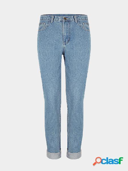 Pantalones vaqueros flacos en Birch Mid Wash