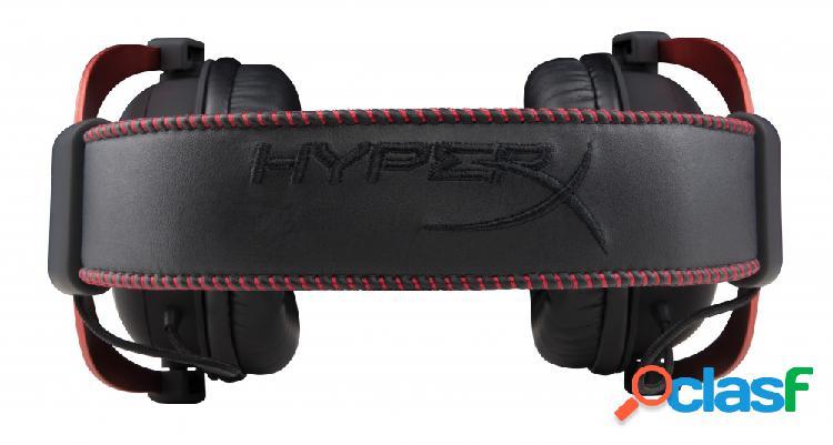 Hyperx audífonos gamer cloud ii red 7.1, alámbrico, 1 metro + 2 metros de extensión, 3.5mm, negro/rojo