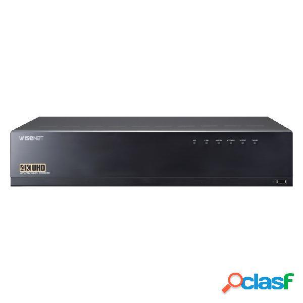 Hanwha nvr de 64 canales xrn-3010a para 8 discos duros, máx. 64tb, 2x usb 2.0, 2x rj-45