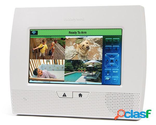 Honeywell panel de control lynx touch 7000 de 80 zonas, inalámbrico, wifi, blanco