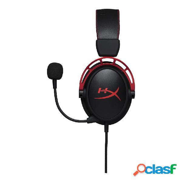 Hyperx audífonos gamer cloud alpha, alámbrico, 1.3 metros, 3.5mm, negro/rojo