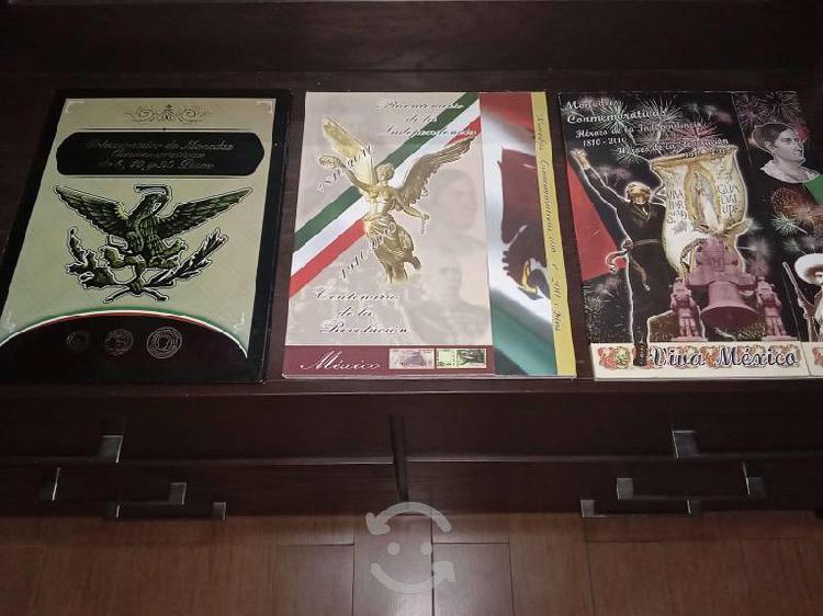 3 álbum colección de monedas de 5 pesos