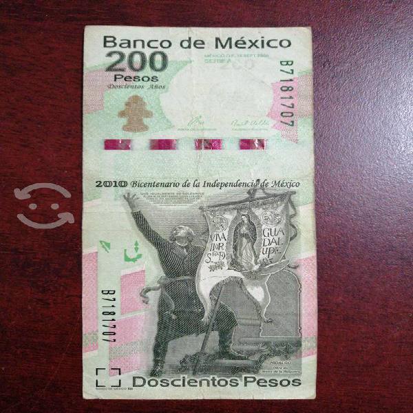 Billete de 200 pesos bicentenario