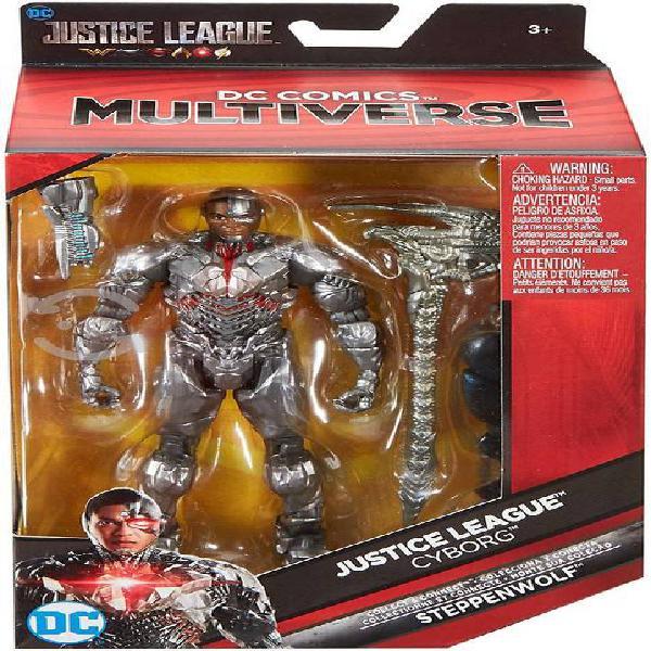 Figura dc multiverse batman / cyborg