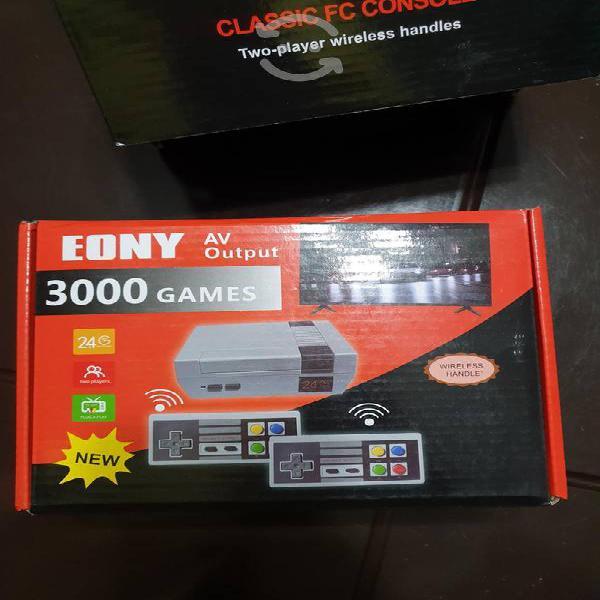 Consola nes mas de 600 juegos controles inalambric