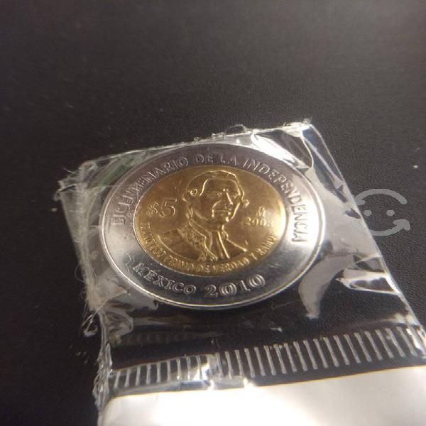 Moneda $5 primo de verdad sin punto