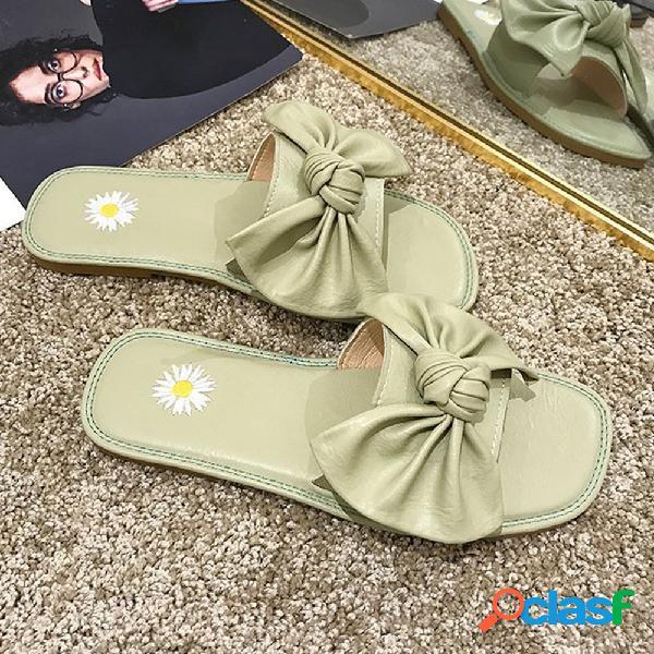 Mujer arco margarita decoración cómoda casual antideslizante playa deslizadores zapatillas