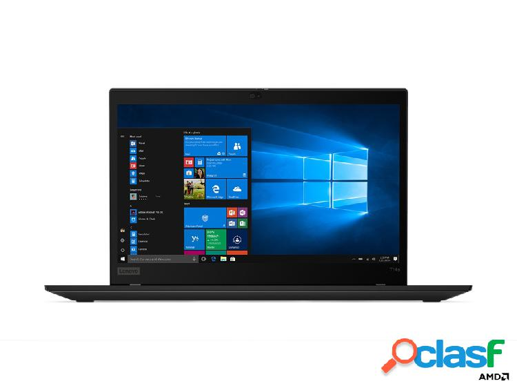 "Laptop lenovo thinkpad t14s 14"" full hd, amd ryzen 7 pro 4750u 1.70ghz, 16gb, 512gb ssd, windows 10 pro 64-bit, negro"