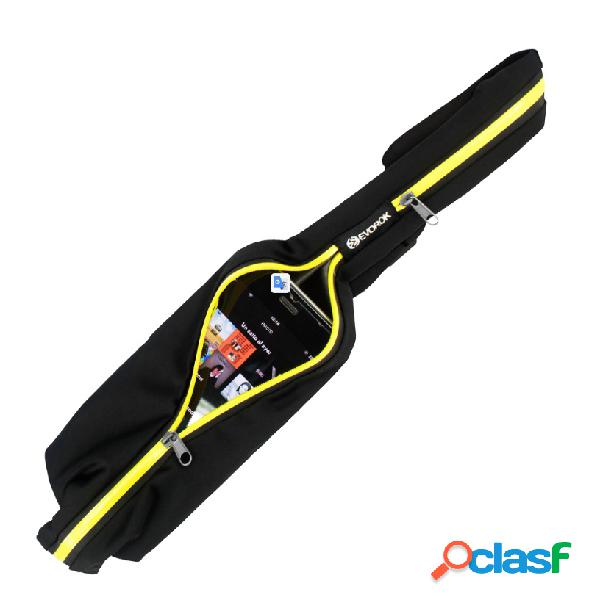 "Acteck funda estilo cinturón evorok para celulares de 6"", negro/amarillo"