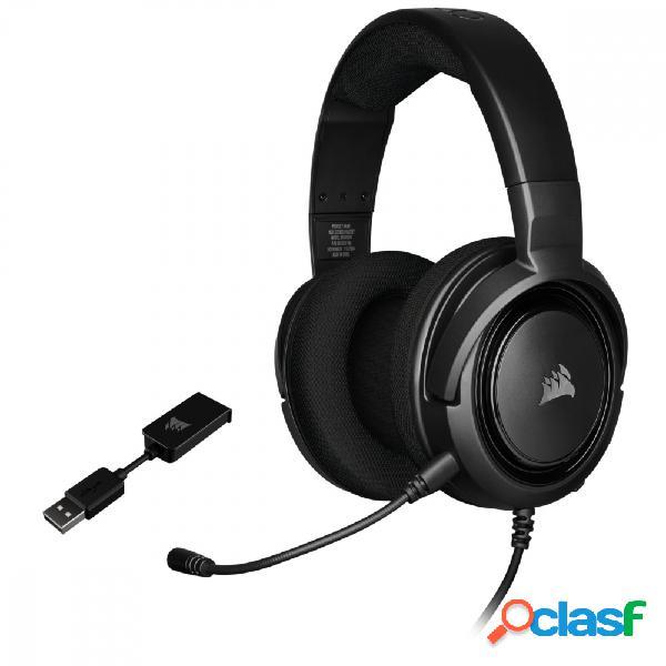 Corsair audífonos gamer hs45 surround 7.1, alámbrico, 1.8 metros, 3.5mm, negro