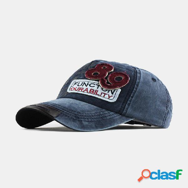 Unisex fashion casual soft gorra bordada con letras digitales superiores gorra de béisbol salvaje para hombres