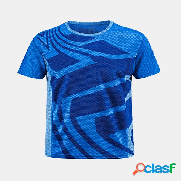 Al aire libre camiseta deportiva de secado rápido de manga corta aptitud cycling yoga para hombre