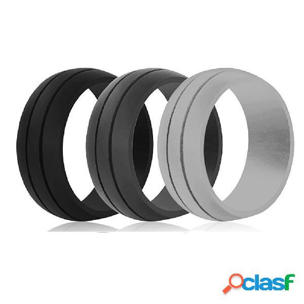 8.5 mm de moda ambiental colorido anillos de silicona casual unisex al por mayor regalo para hombres para mujeres