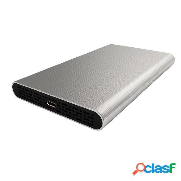 """Getttech gabinete de disco duro egc-2530 2.5"""", sata, micro-usb c, plata"""