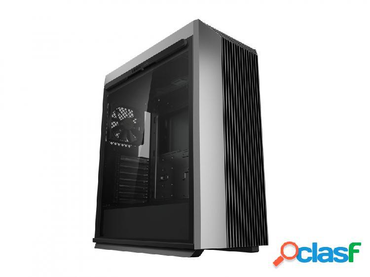 Gabinete deepcool cl500 con ventana, midi-tower, atx/micro atx/mini-itx, usb a/c, sin fuente, negro/gris