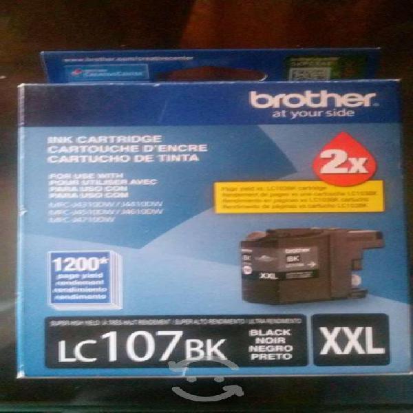 Brother cartuchos lc107bk alto rendimiento nuevos.