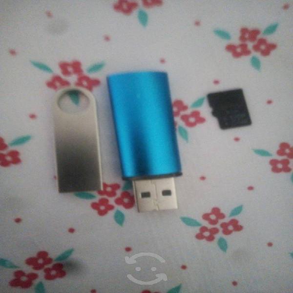 Memorias usb de 16 o 8 y micro de 4 gb
