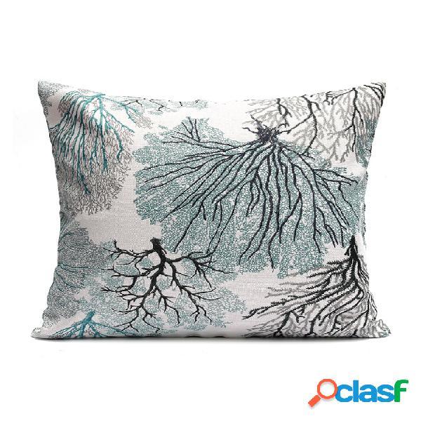 Elegante funda de cojín de brocado elegante throw pillow caso home sofa decor 45x45cm