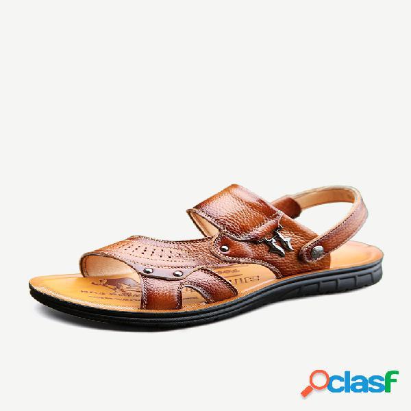 Zapatos sin cordones con punta abierta para hombre soft al aire libre playa agua sandalias