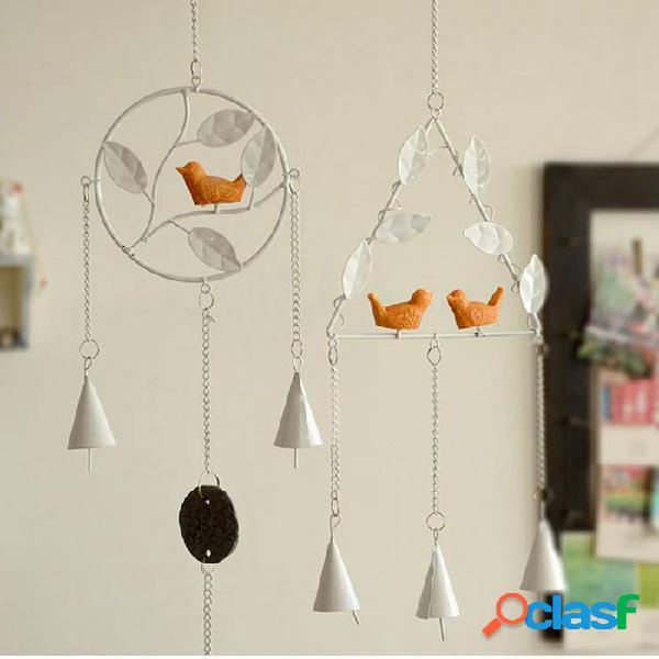 Honana dx-203 creative bird bells hechos a mano bell campanula home decor ornaments colgante de hierro
