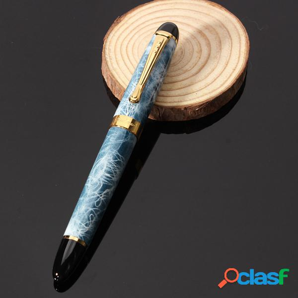 Fuente de plumilla mediana de mármol azul cielo 18kgp pluma escuela material de oficina para estudiantes