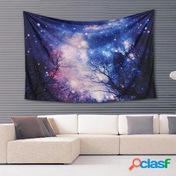 Galaxy forest mandala tapiz colgante de pared throw dorm colcha yoga mat decor