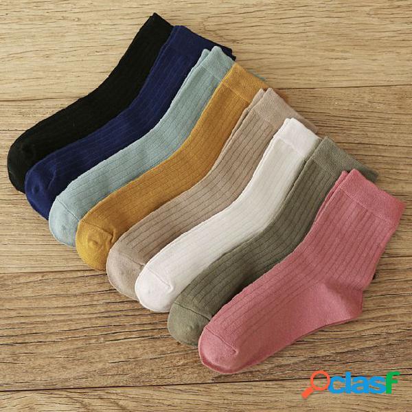Nuevo producto de bombeo calcetines color salvaje japonés en el tubo calcetines moda de algodón calcetines mujer