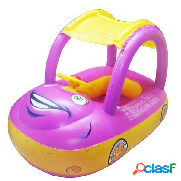 Seguridad coche asiento de flotador inflable para bebé con sombrilla barco swim piscina agua
