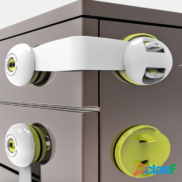 Seguridad para niños cerradura puerta del gabinete de mano anti-pellizcos para bebés cerradura refrigerador de protección para bebés con hebilla cerradura cajón cerradura
