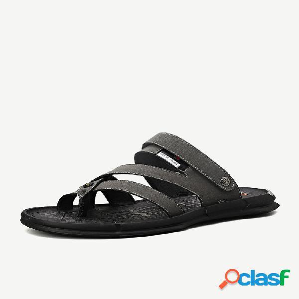 Hombre two ways wearing soft sandalias playa agua zapatillas