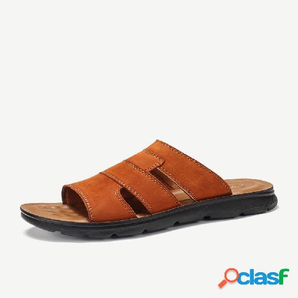 Menico hombre punta abierta playa slip on house zapatillas