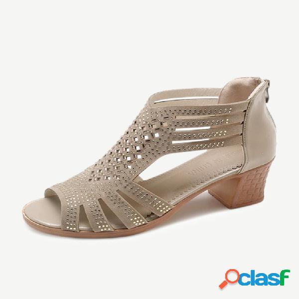 Temporada sandalias mujer gruesa con nuevos zapatos de mujer zapatos de madre de mediana edad bajos con mujer salvaje sandalias