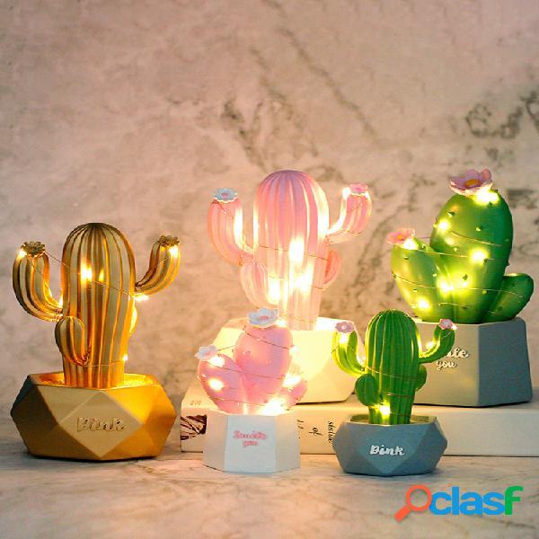 3d cactus led luz de noche wall lámpara baby kids dormitorio home decor regalo