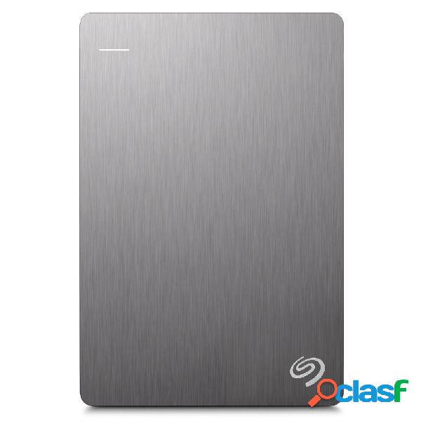 Disco duro externo seagate backup plus slim portátil 2.5'', 1tb, usb 3.0, plata - para mac/pc