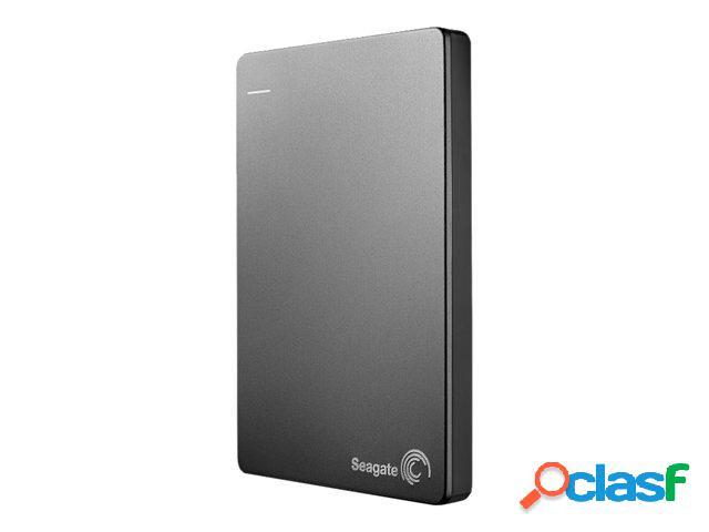 Disco duro externo seagate backup plus slim portátil 2.5'', 2tb, usb 3.0, plata - para mac/pc