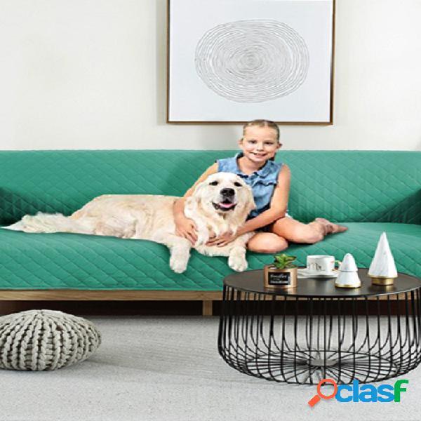 Sofá color sólido para mascotas, cojín impermeable, antideslizante, funda protectora para sofá anti-suciedad para mascotas