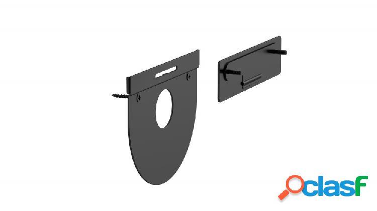 Logitech kit de montaje para controlador de videoconferencia tap wall mount, negro