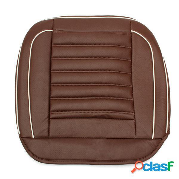50x50cm cuero pu coche cojín asiento funda para silla negro / beige / café alfombrilla interior para automóvil