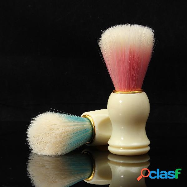Hombre cepillo de afeitar mango de plástico crema de barba jabón de afeitar espuma cepillos para el cabello