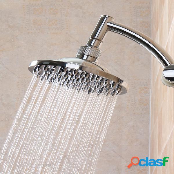 """Baño de lluvia pulido redondo de 6 """"cuarto de baño cabezal de ducha superior con rociador cuarto de baño suministro"""