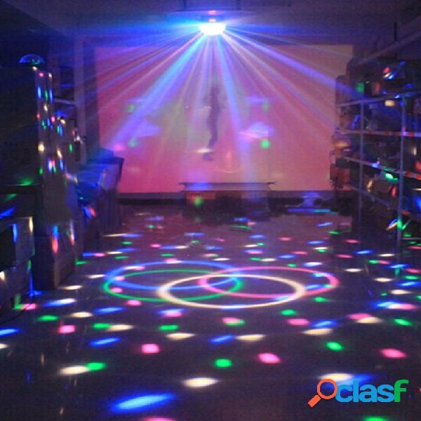 Mini rgb led party disco club dj light crystal magia efecto de bola iluminación de escenario