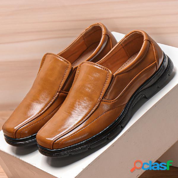 Menico mocasines de cuero cómodos para hombres sin cordones calzado informal