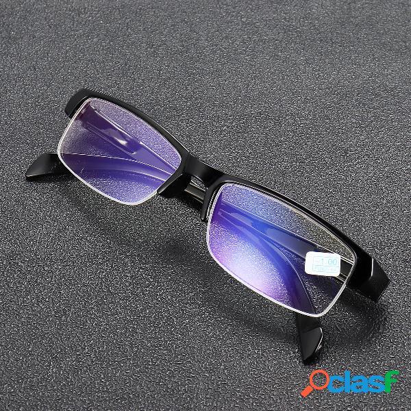 Miopía gafas claro óptica moda medio marco miope gafas ojo salud cuidado -100 a -400