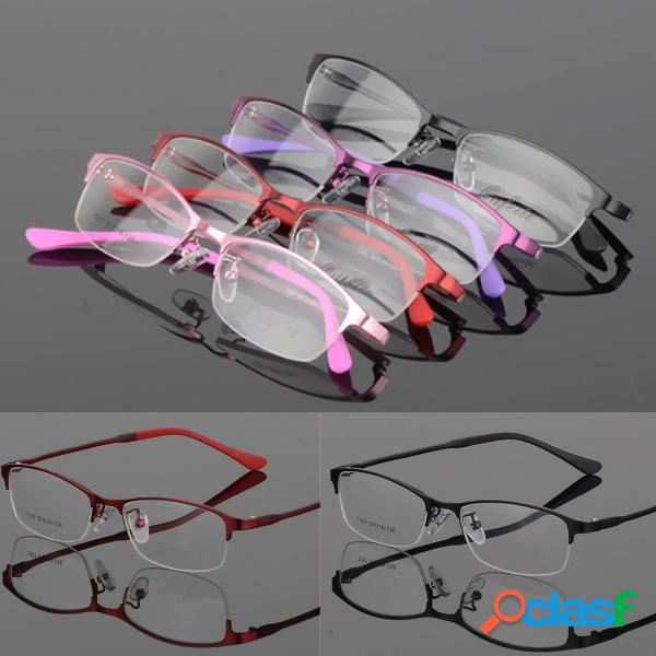 Lentes de medio marco lentes transparentes metal tr90 gafas para ojos ópticos cuidado de los ojos