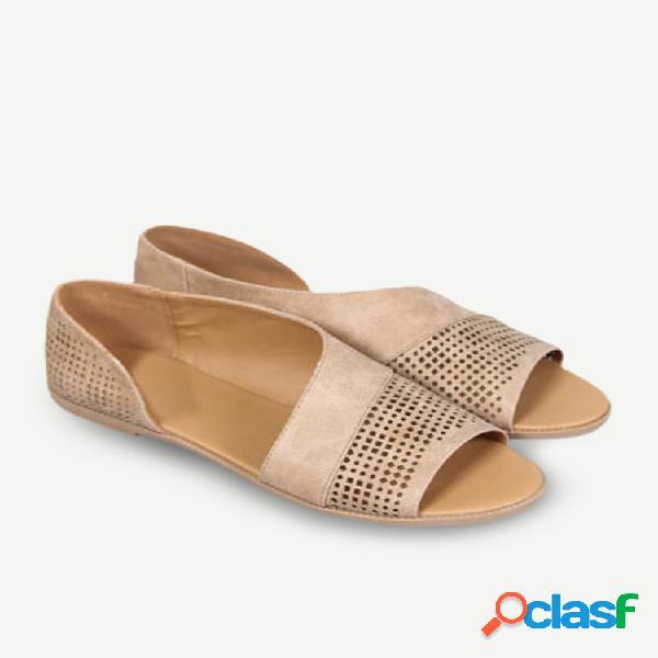 19 nuevos zapatos de boca de pez huecos laterales de suministro sandalias zapatos romanos retro zapatos de tacón bajo zapatos de gran tamaño