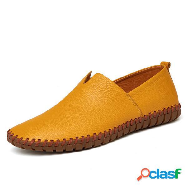 Hombres de gran tamaño one zapatos de conductor de pie zapatos de cuero