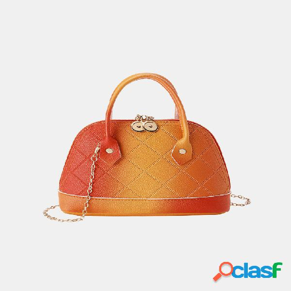 Mujer ombre cadena shell bolsa crossbody bolsa satchel bolsa