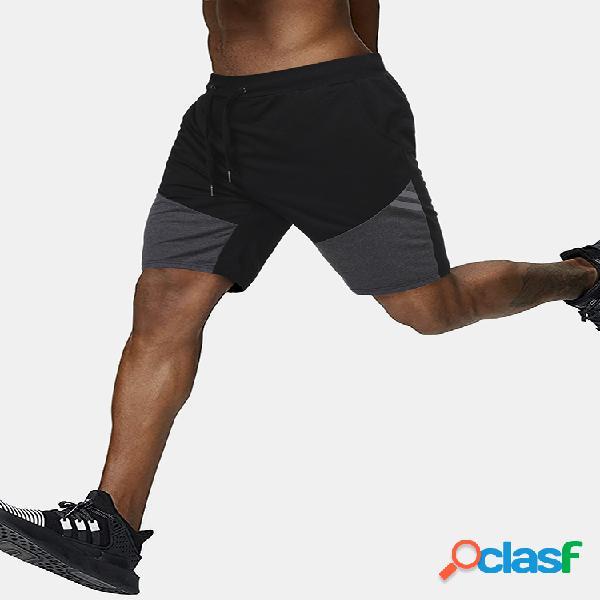 Pantalones cortos de algodón con cordón sueltos para hombres